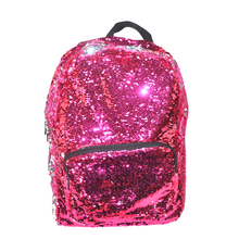 Stylish kid personalized glitter backpack sequin school bag