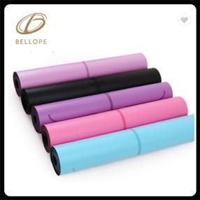 Yüksek kaliteli organik yoga mat çift renkli nbr mat yoga