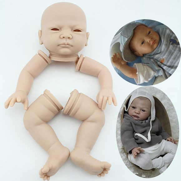 Lifelike soft vinyl reborn doll kits soft vinyl like silicone Dolls Accessories
