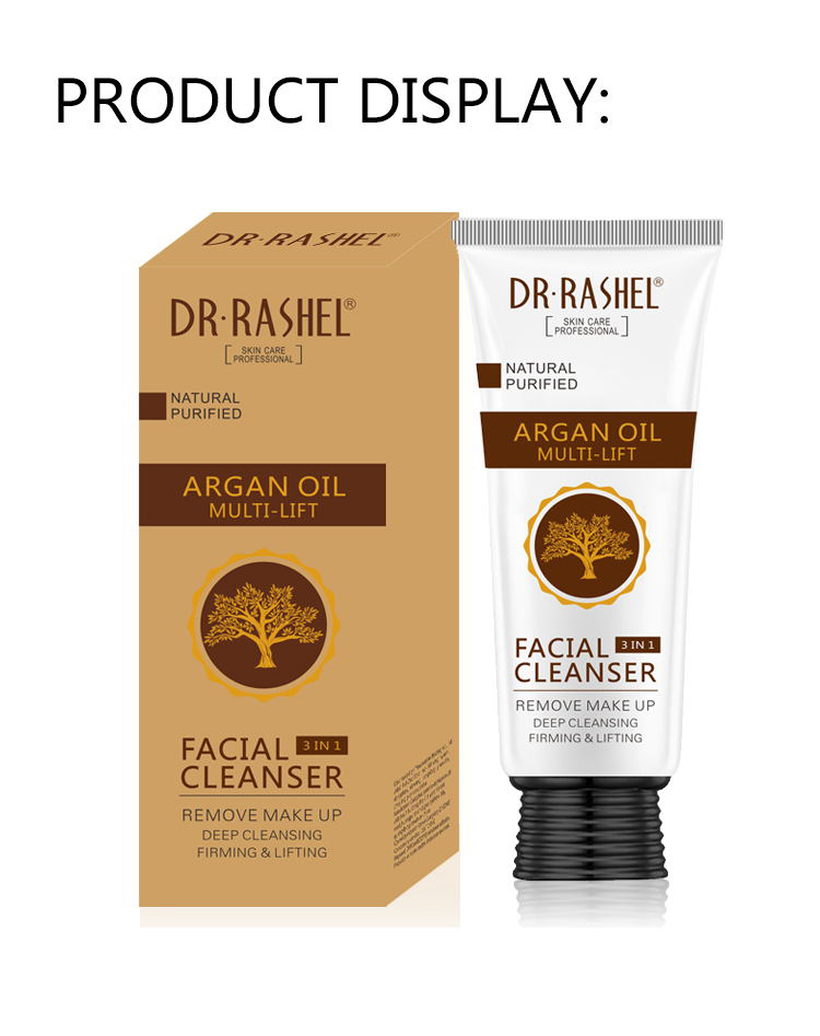 DR.RASHEL Natural Purified Multi Lift Makeup Remover Deep Cleansing Firming Face Wash Argan Oil Facial Cleanser