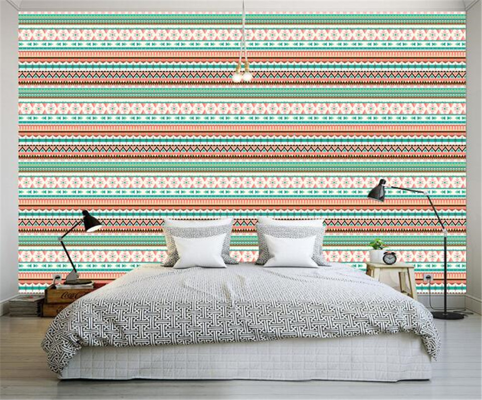 Custom Wallpapers Roll Vintage Indian Wall Paper Home Decor Simple Stripe Wall Paper American Style Living Room Wall Wallpaper Custom Wallpaper Style Wallpaperwall Wallpaper Aliexpress