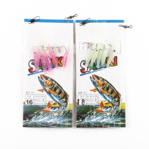 12-18# New Bait Jigs Worn Fake Soft Fishing Lure Rigs Sabiki Luminous Shrimp String Hook