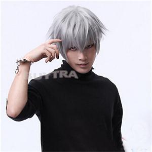 Япония аниме токио упыри кен Kaneki косплей парик синтетический волос ну вечеринку хэллоуин парики