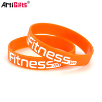 Factory manufacture custom hot sell silicone wristband bracelet silicone