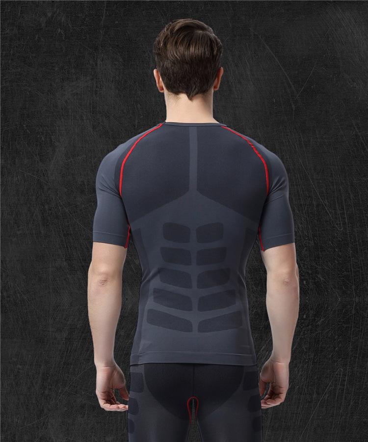 Men's Quick Dry Short Sleeve T-Shirt Running Fitness Shirts 3