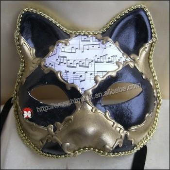 Venetian Mask Black Cat Clear Cat Mask Venetian Masquerade Prom