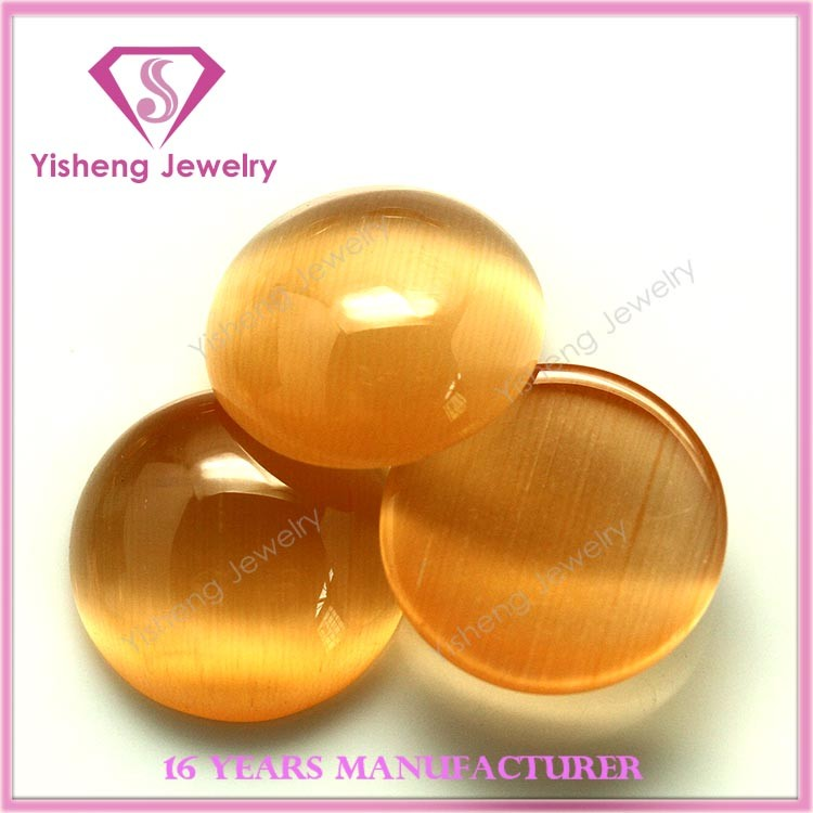 Top grade polishing machine cut man made bulk gem stone