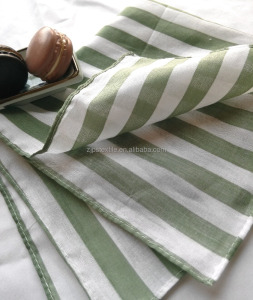 wholesale cheap high quality cotton verdancy stripe bandana gift kerchief recycle material