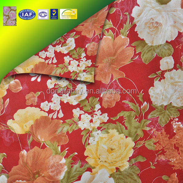 Cheap Price Polyester Material Floral Pattern Ticking Mattress Fabirc
