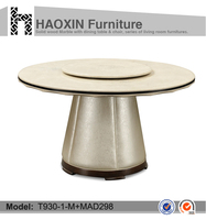 Wood Furniture vintage French rotating dining table & round marble table tops & round dining table