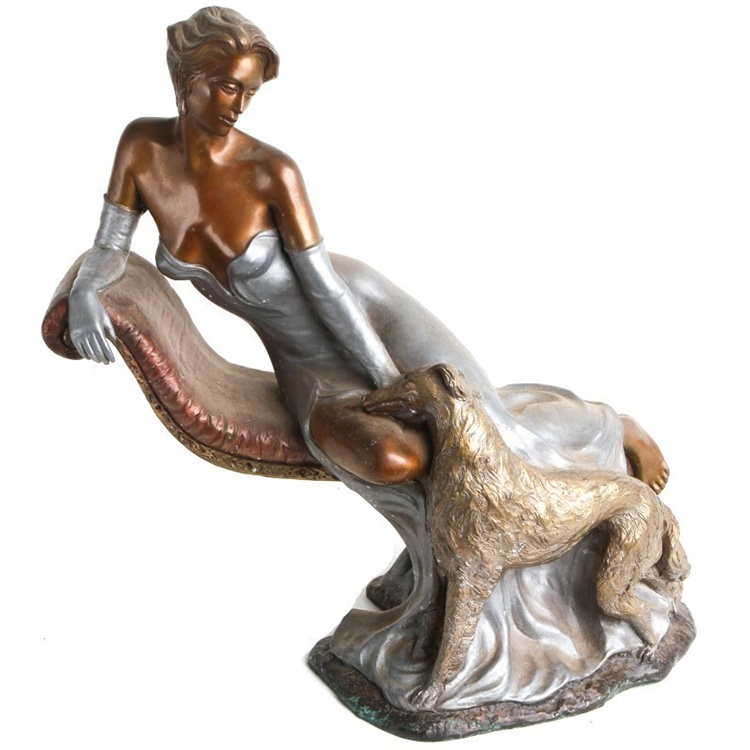 high quality brass indoor decoration statue nude female bronze sculpture