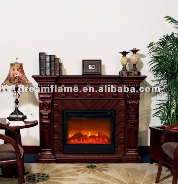 Portable/insert indoor decorative electrical fireplace
