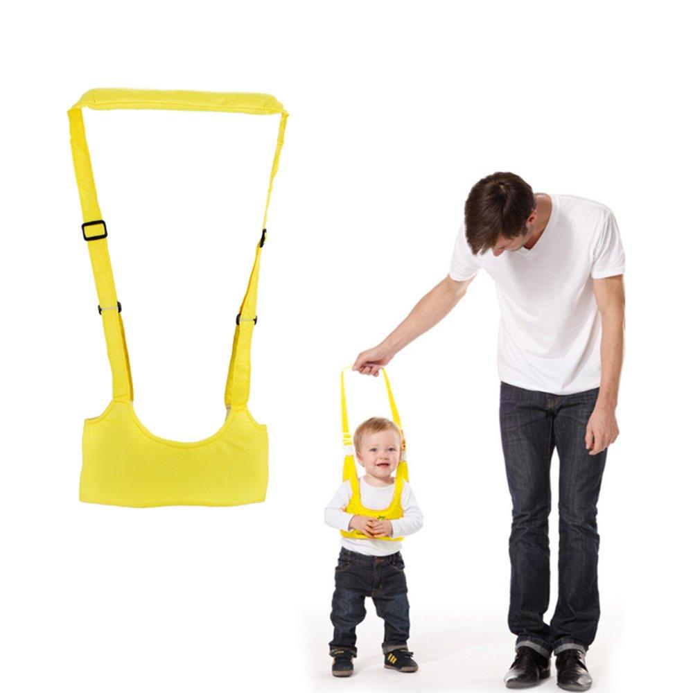 Handheld Baby Walker Helper Kid's Safe Walking Harness Protective Belt Learning Assistant , New Sling Walking Helper Educational Toy for Toddlers Pre-walkers,Soft and Adjustable