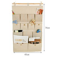 Good Quality Linen Wall Hanging Jewelry Organizer