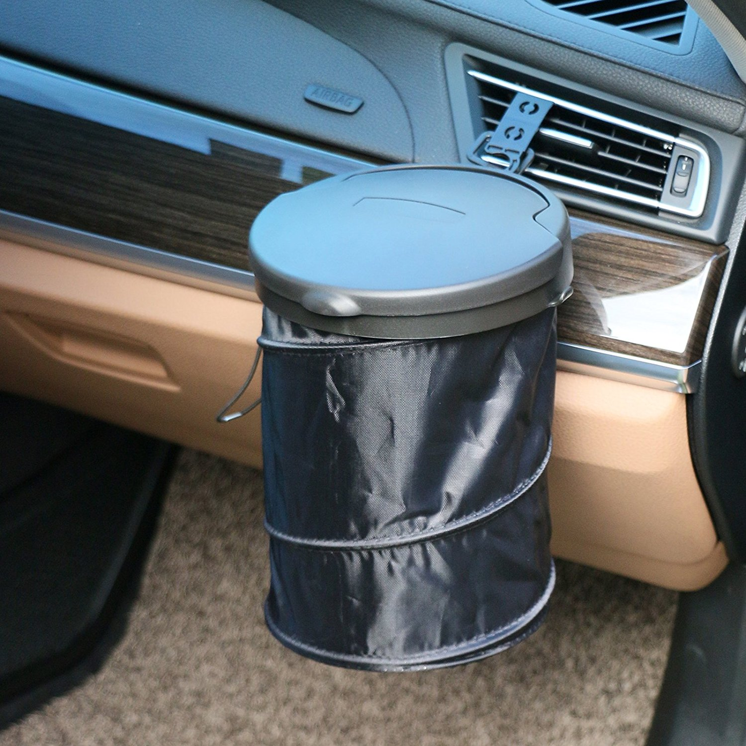 Auto Garbage Trash Can Wastebasket Dust Leakproof Pop-up Foldable Bin//Bag Car