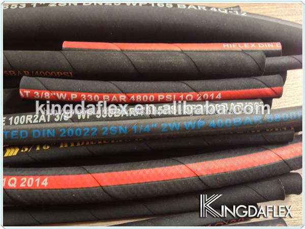 Caucho reforzado manguera de combustible-adecuado para la gasolina//Diesel//Aceite-Tamaños Variados