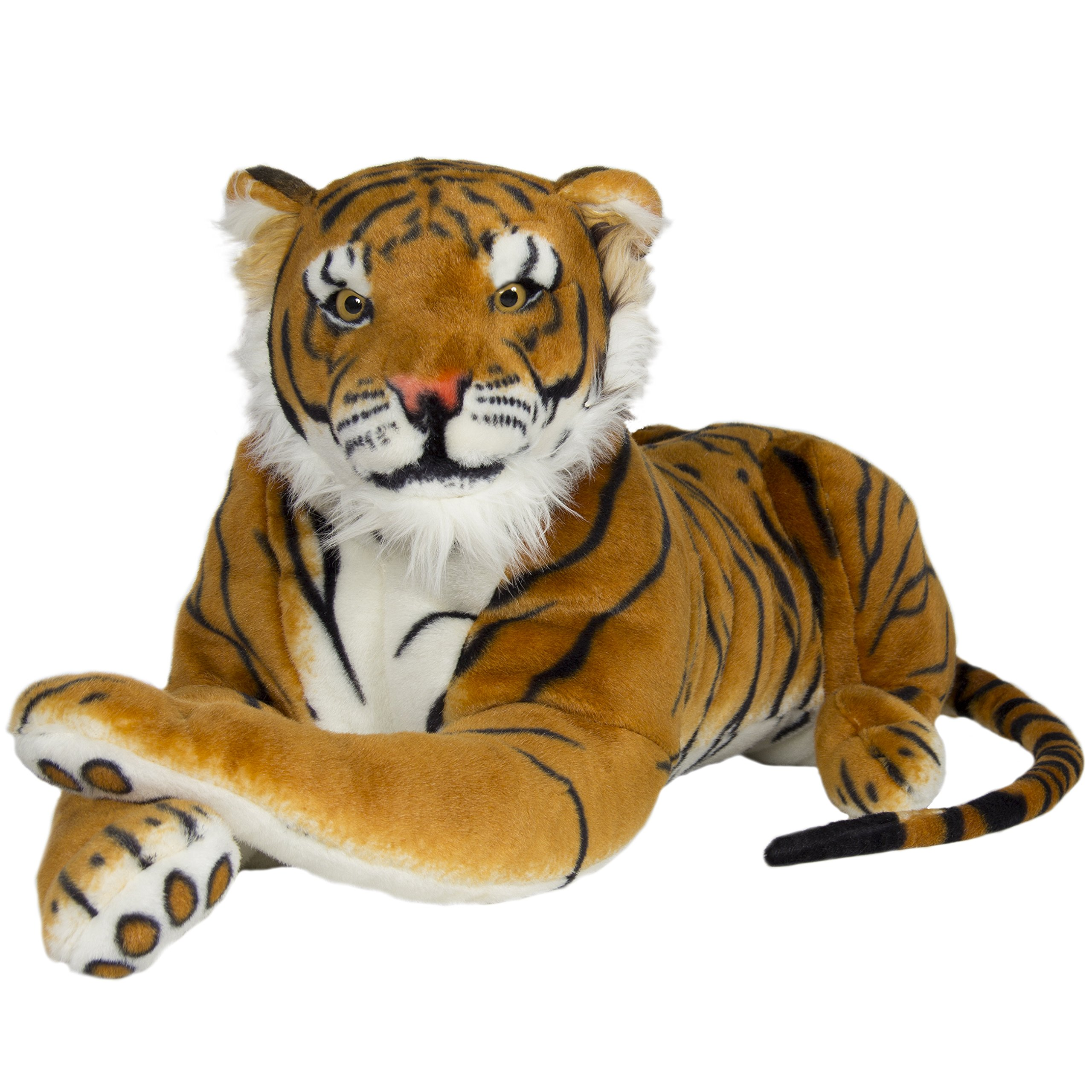 713bb103b5a7 Best Choice Products Tiger Plush Animal Realistic Big Cat Orange Bengal  Soft Stuffed Toy Pillow,