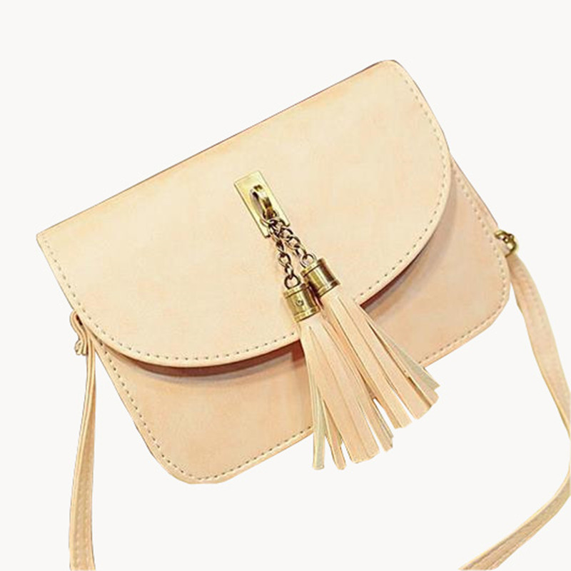 Tassel Women Bag 2015Summer Style Women Messenger Bags Fashion Bag Ladies 10 Candy Color Bolsa Feminina Chains Wild Bolsos Mujer