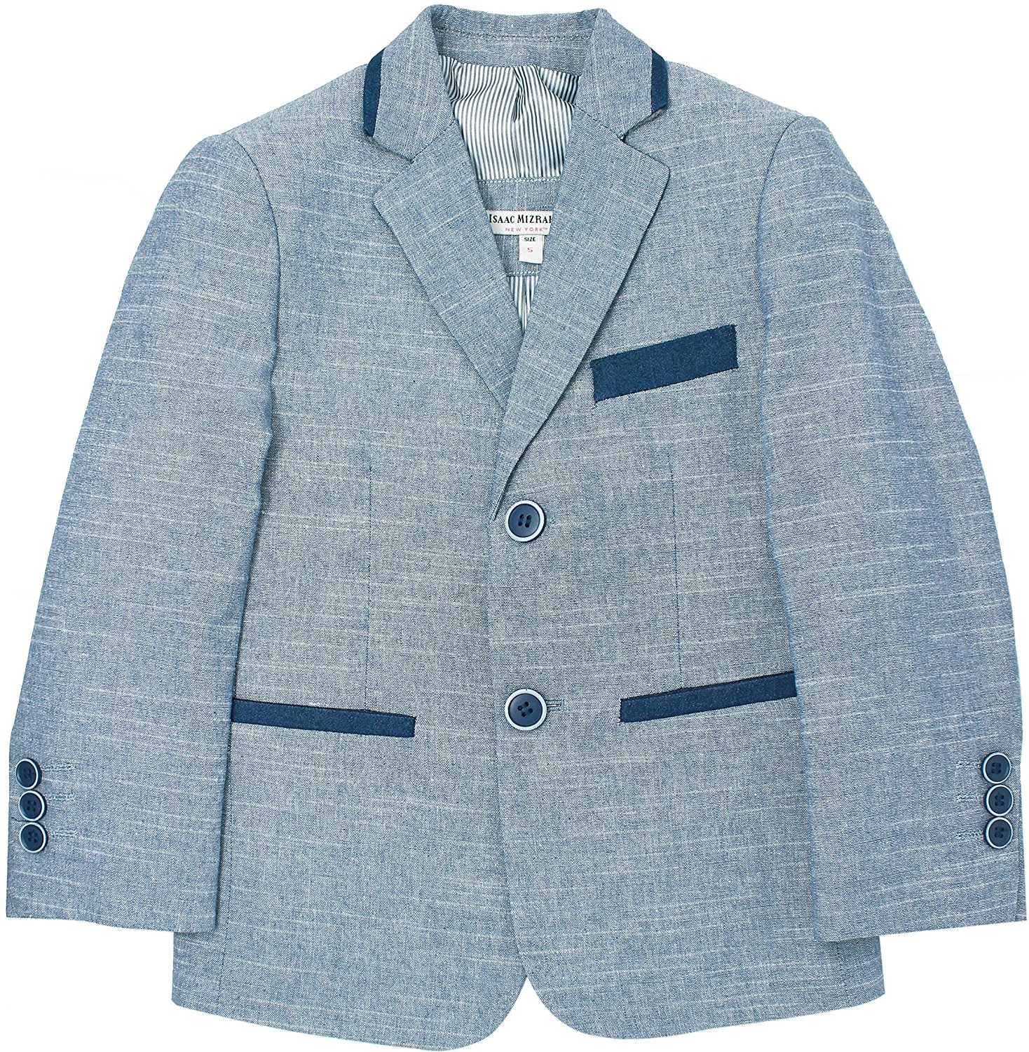 Isaac Mizrahi Boys Midnight Blue Knit Blazer