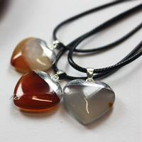 heart shape 20mm ladies couple gold necklace set designs