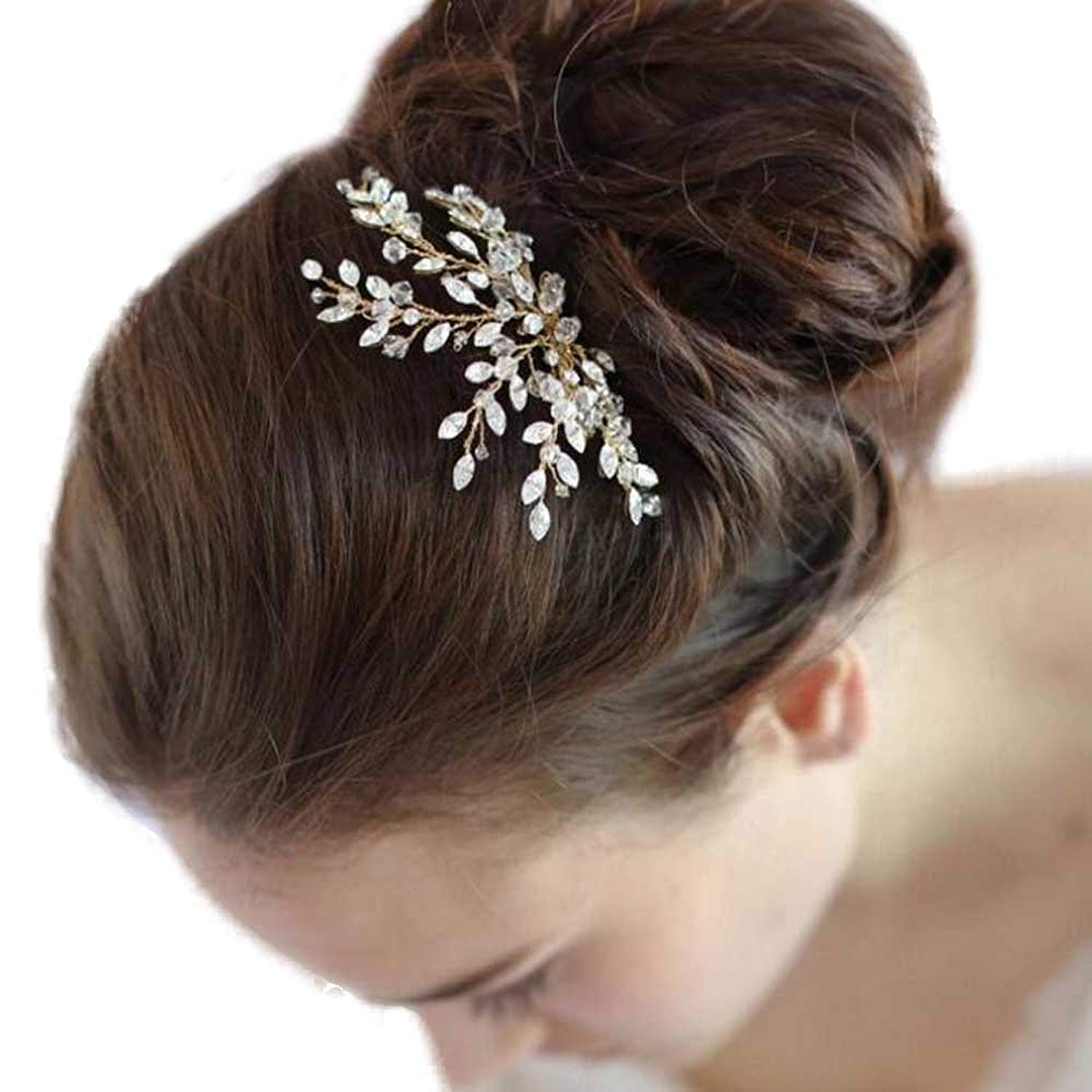 Get Quotations · Missgrace Women s Wedding Hair Combs - Bridal Hair  Accessories Head Piece Vintage Wedding Crystal Hair Combs 694f566b2