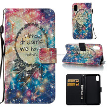 Wallet smart phone case accessories leather case for iPhone X