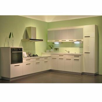 Modern Terbuka A Dapur Kabinet Akrilik Pintu Desain
