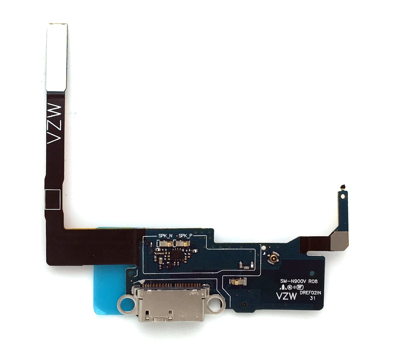 SBOS® Samsung Galaxy Note 3 N900V - Verizon Charging Port Flex Cable Dock Connector USB Port With Mic Microphone Flex Cable Repair Part N900V
