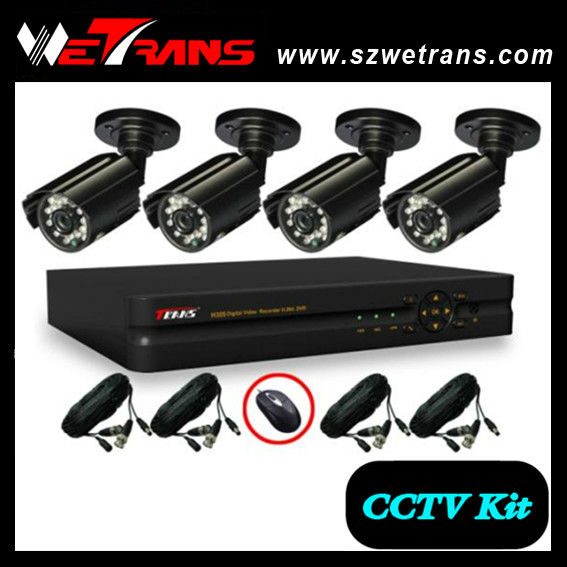 WETRANS 4CH Surveillance CCTV System, Camera and DVR, Economical DVR Kit and CCTV Kit