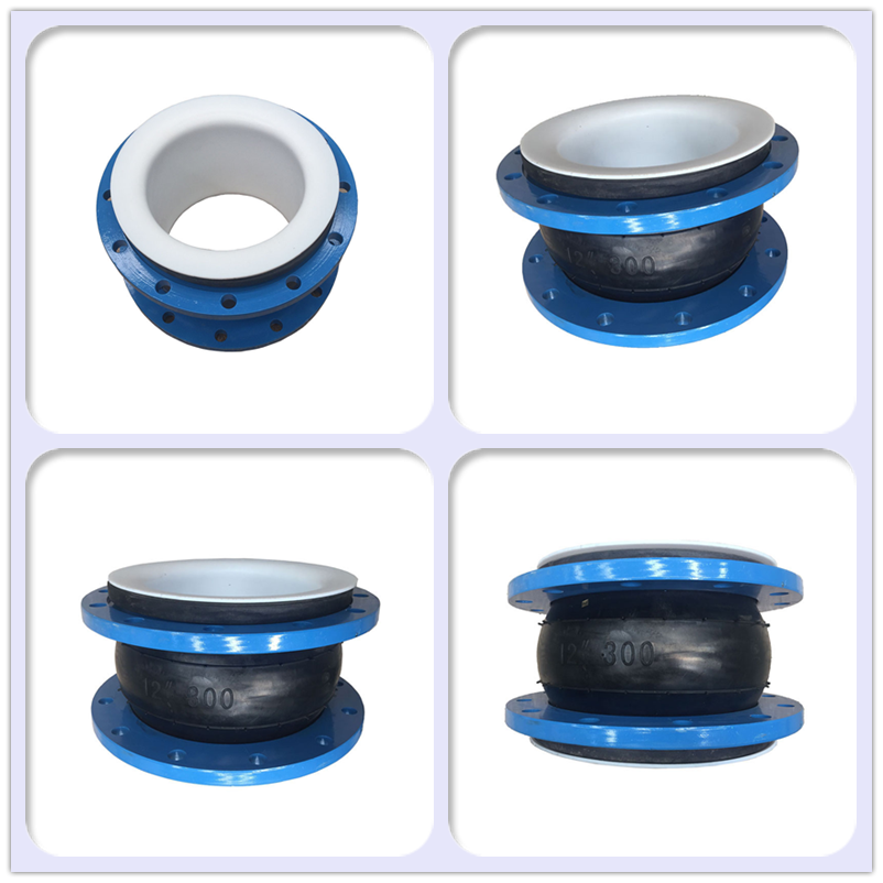DN100 4 Inch Single Rubber Sphere Rubber Expansion Joint Flexible Connector