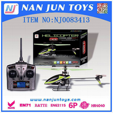 2.4G 4CH green single blade rc helicopter mini hobby models with good quality