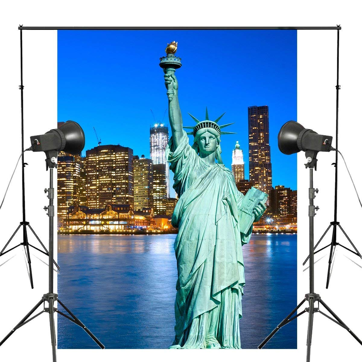 ERTIANANG New York Statue of Liberty Photography Background Studio Props Wall Photography Backdrop Manhattan Scenery Theme 150x220cm