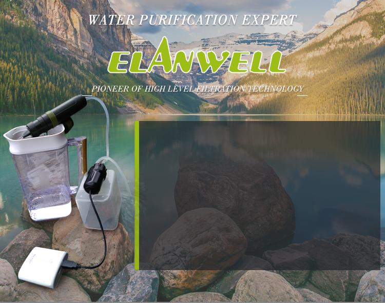 Trekking viagem esporte ao ar livre filtro de água pessoal