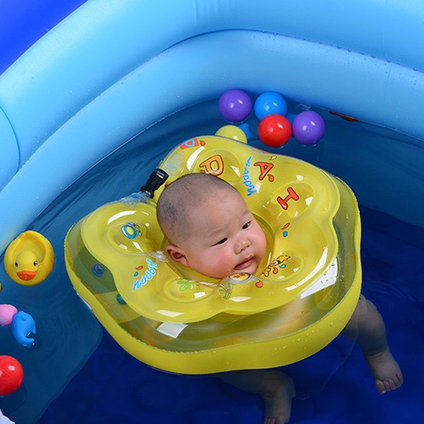 Pvc Baby Swimming Neck Float Ring Safety Aid Tube Infant Swim Bath ...