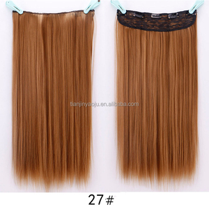 Wholesale Hair Extension Five-card Straight Hair Weft/weaving Piece 5 Clips In Trace Spot Synthetic Hair