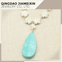 N0018 big artificial stone pendant jewelry/necklace