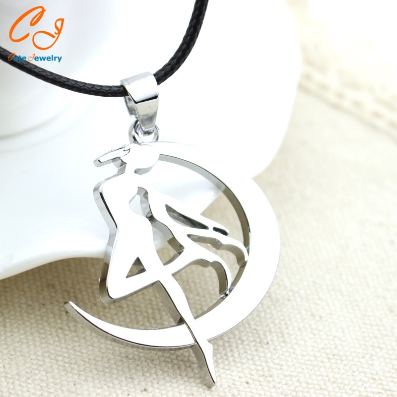 Diffuse peripheral Sailor Moon where Sailor Moon water ice month marks the necklace pendant