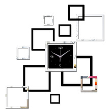 2015 Large Color living room new classical/post-modern wall clocks modern design luxury mirror clock home decoration crystal