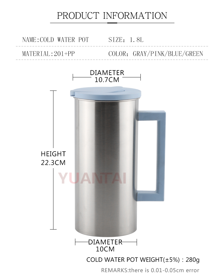 Wholesale european style1.8L Stainless steel kettle tea kettle water kettle with lid