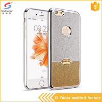 Luxury tpu bling leather glitter mobile case for iPhone6, mobile case for ladies
