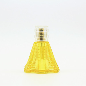 100ml pyramid shaped glass perfume bottle