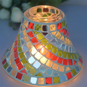 mirror mosaic candle shade by vintage candle