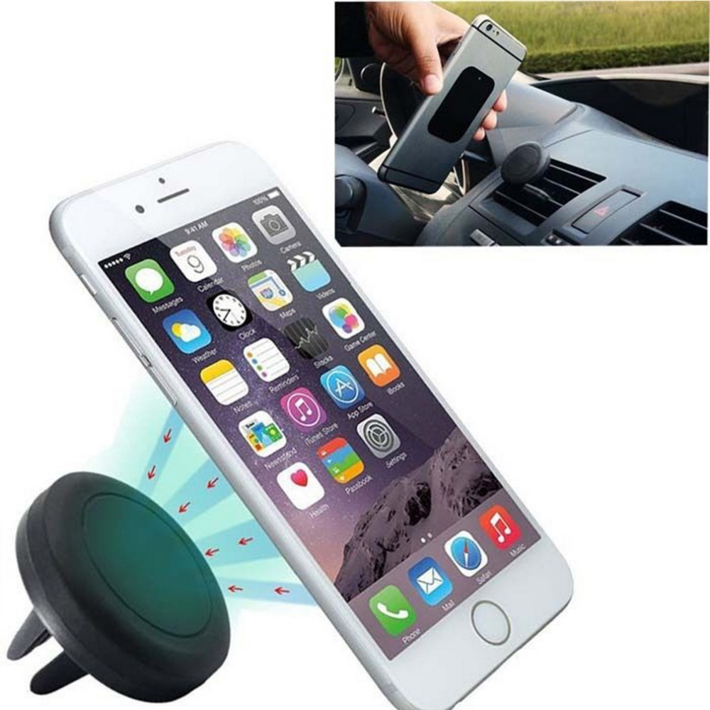 360 Degree Universal Car Holder Magnetic Air Vent Mount Dock mobile phone holder For iPhone for Samsung for HTC celular carro*