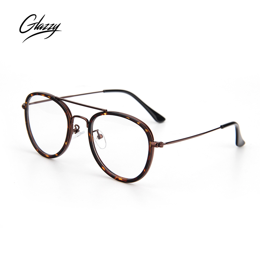 4bb2dd323a73 Glazzy Vintage Classic Eyewear  strong Frames  strong  Round Clear Lens  Spectacle