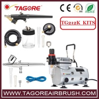 low price portable single piston air compressor for hobby painting