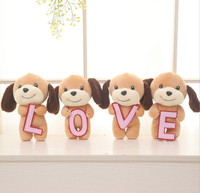New Christmas Gift Wholesale 23CM Lovely Girls Plush Toy Doll Stuff&plush Mini Bouquets Bear Toy for Promotional Gift