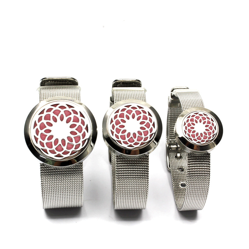 New stainless steel mesh diffuser essential oil bracelet