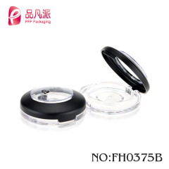 Custom printed round empty eyeshadow compact powder case for sale