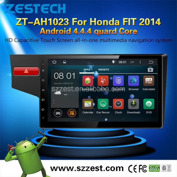 ZESTECH Android 4.4.4 10.2 inch Car dvd player For Honda FIT 2014 with Capacitive Touch Screen with A9 Chipset GPS Navigation