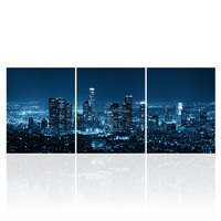 HD Printed Wall Art City View Canvas Print LED Light Wall Picture for Home and Hotel Decoration Wholesale/SJMT1983